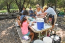 Students make castings during Animal Camp.
